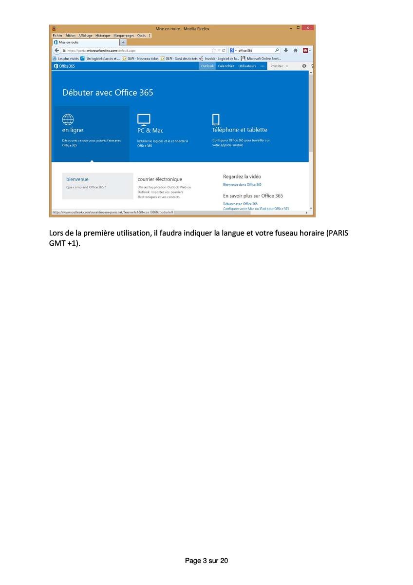 office 365 outlook en ligne