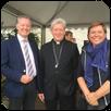 évêque de Beauvais, entouré d'Isabelle Roeckhout et Philippe Poussin
